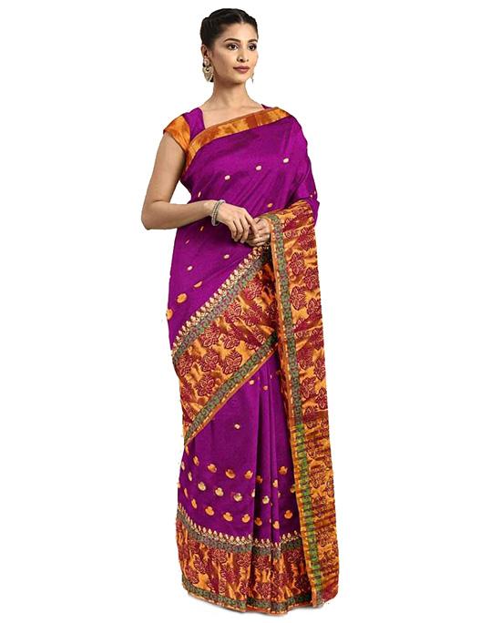 Molakalmuru Poly Silk Saree Purple