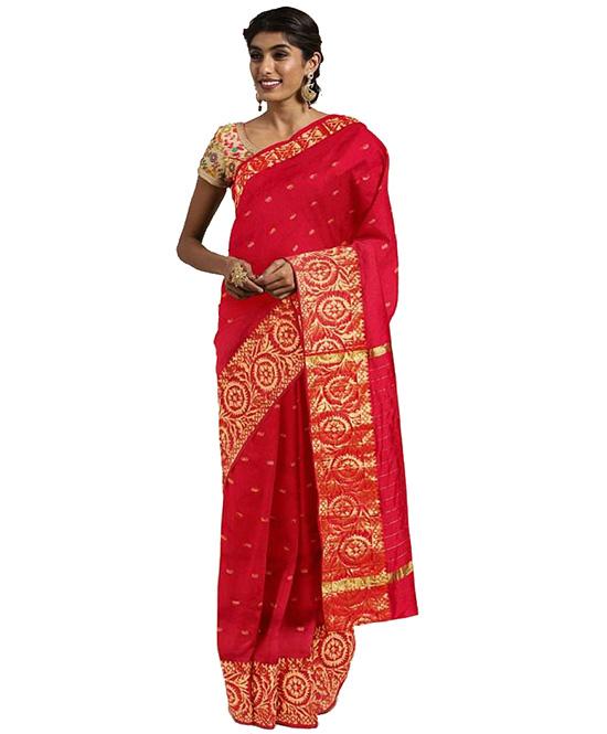 Molakalmuru Poly Silk Saree (Red
