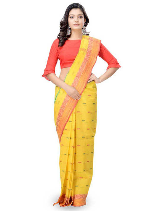 MulticolorTangail Pure Cotton Saree