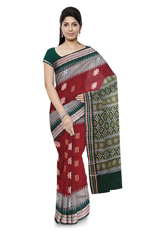 Sambalpuri Bomkai Cotton Multicolour Saree