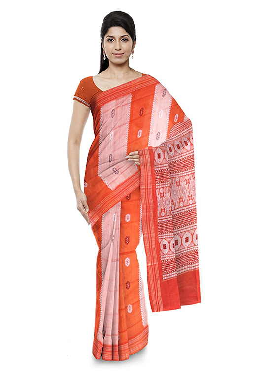 Sambalpuri Bomkai Multi Colour Cotton Saree