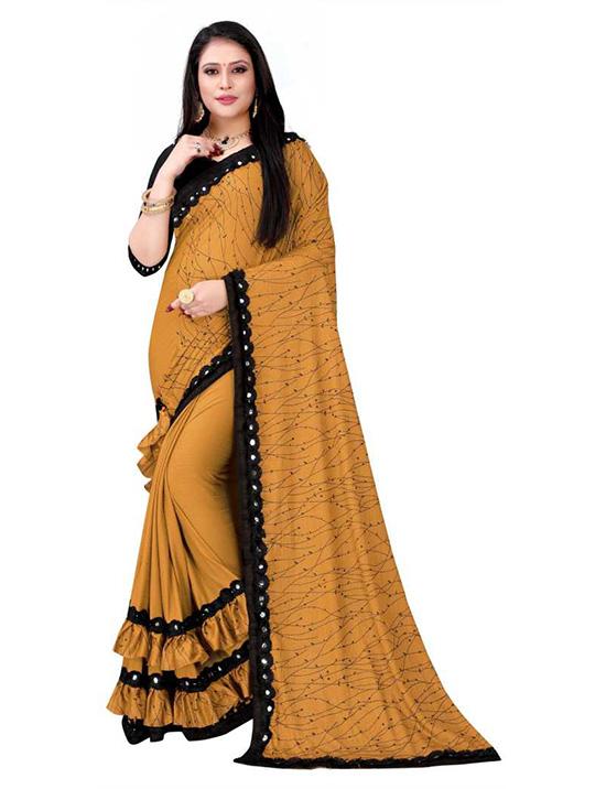 Self Design Kanjivaram Lycra Blend Yellow Saree
