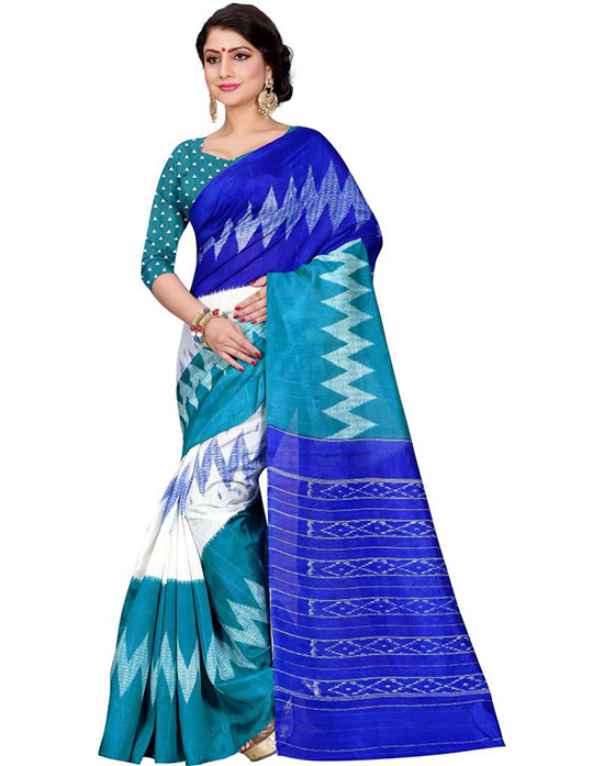 Sungudi Art Silk Saree Blue