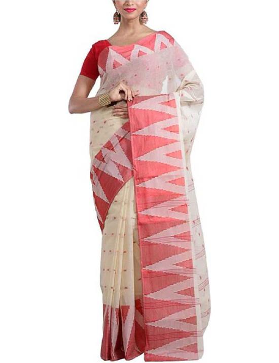 Tangail Cotton Blend SareeBeige