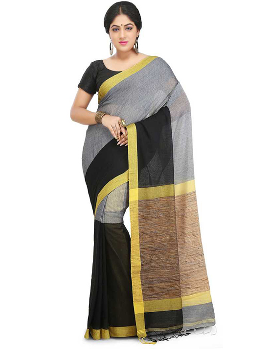 Tangail Handloom Cotton Blend Saree Multicolor