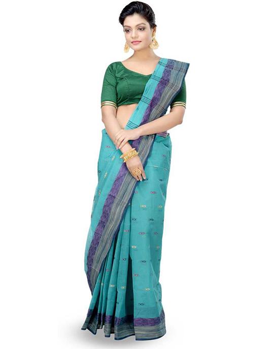 Tangail Pure Cotton Saree (Multicolor)