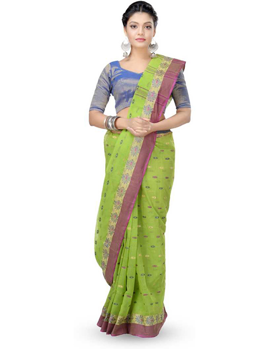 Tangail Pure Cotton Saree (Multicolor