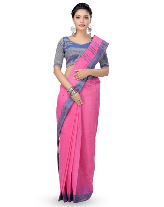 Tangail Pure Cotton Saree(Multicolor