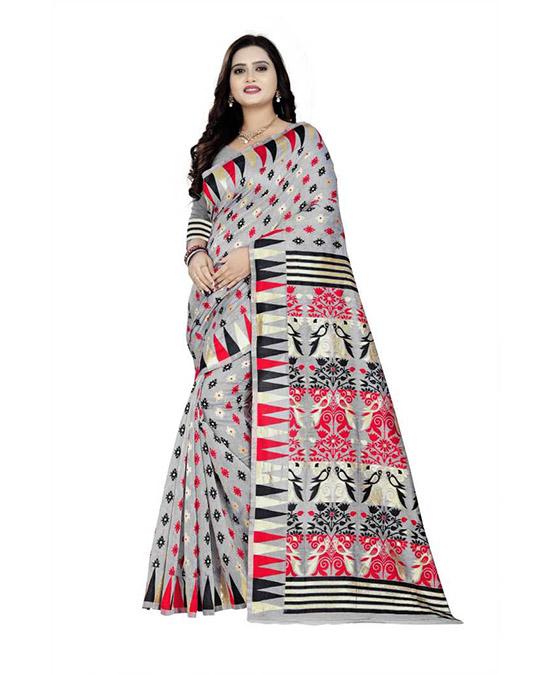 Thirubuvanam Cotton Silk Saree (Multicolor