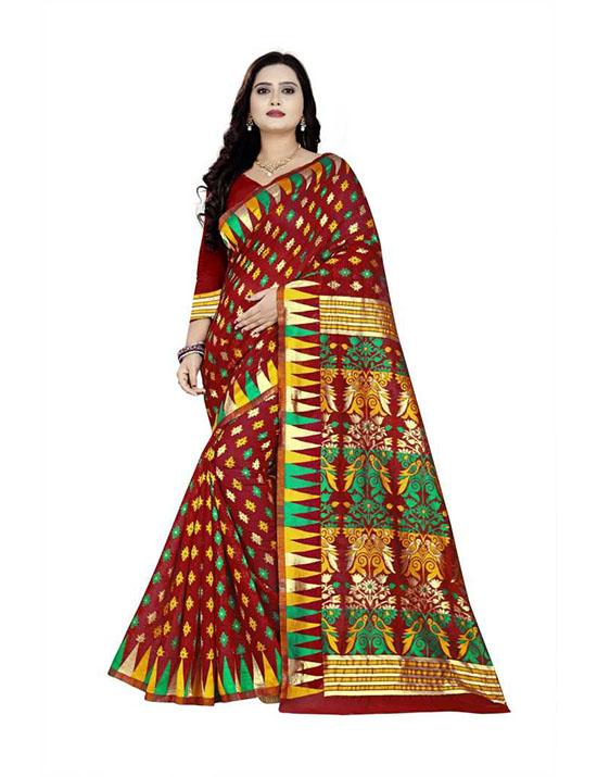 Thirubuvanam Cotton Silk Saree Multicolor