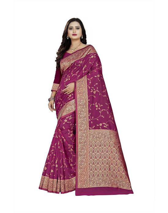 Thirubuvanam Cotton Silk Saree Purple