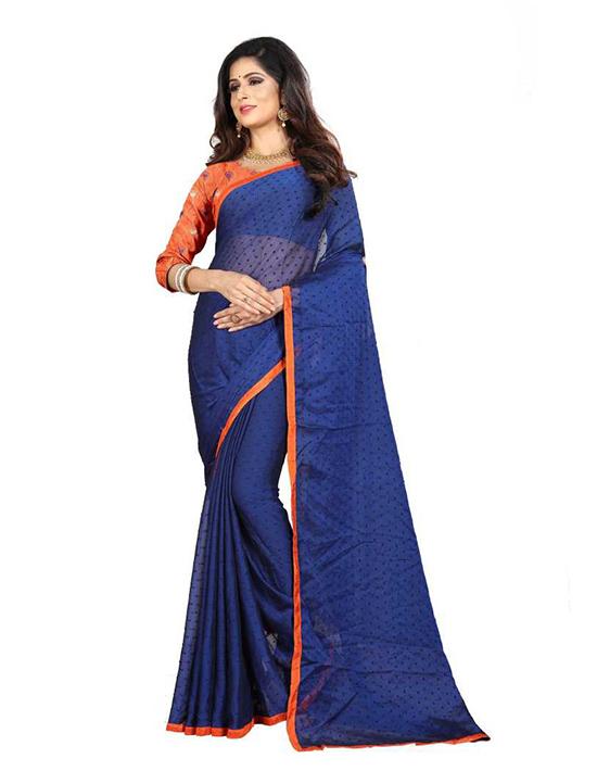 Thirubuvanam Jacquard Saree Blue