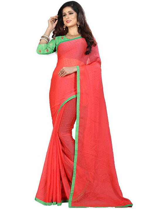 Thirubuvanam Jacquard Saree Red