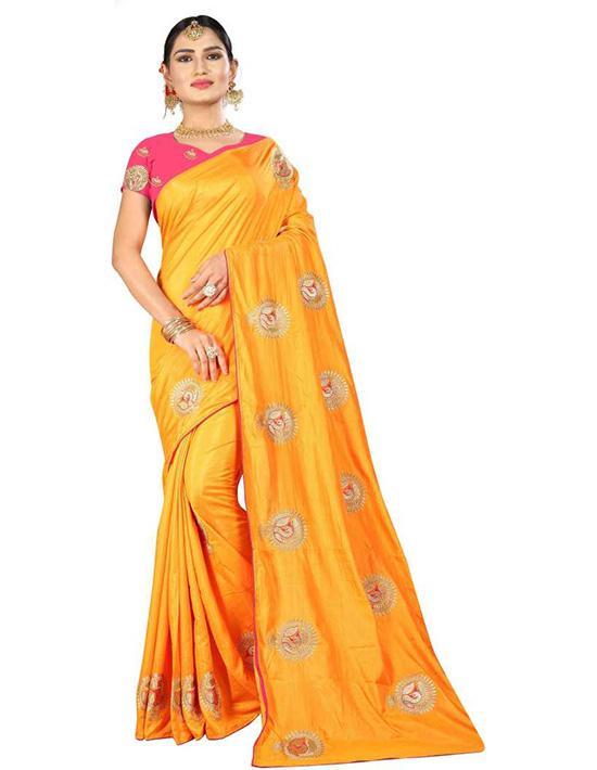 Thirubuvanam Tussar Silk Saree (Yellow