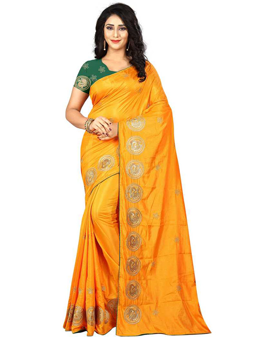 Thirubuvanam Tussar Silk Saree Yellow