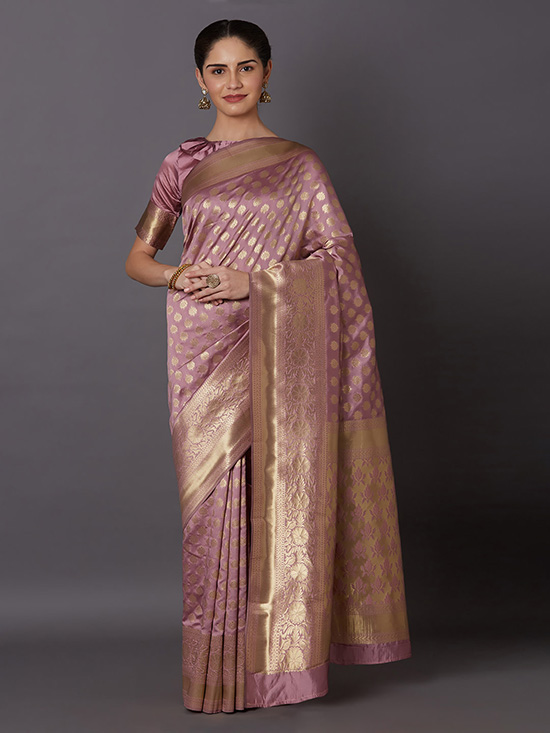 Woven Design Kanjeevaram Lavender Saree