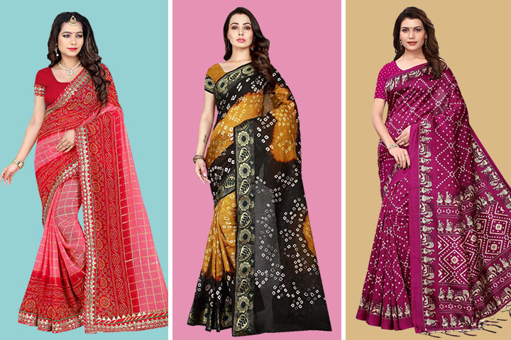 30 Traditional Bandhej Sarees Online at Great Prices