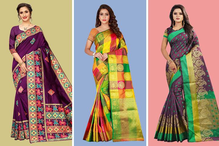 Top 30 Stylish & Unique Designs of Ikkat Sarees