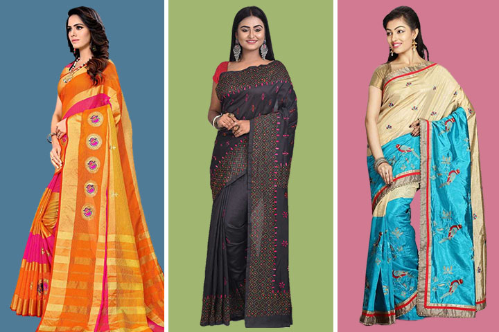 35 Amazing Collection of Kantha Sarees That Will Mesmerize You