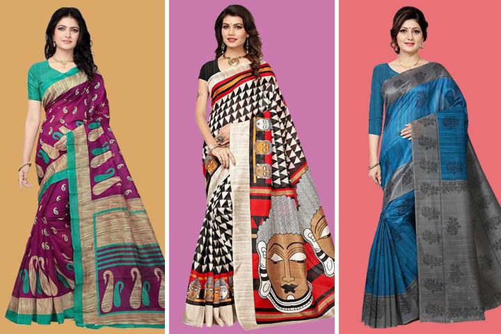 25 Beautiful Collection of Bhagalpuri Silk Sarees at Best Prices