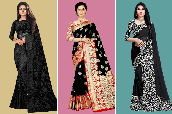 Black Sarees – 30 Latest Collection Black Sarees for Women