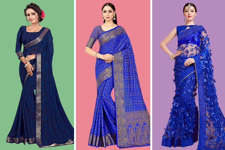 Blue Sarees – 30 Latest Blue Color Sarees for Women