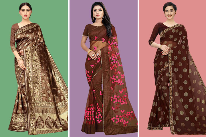 Brown Sarees – 25 Beautiful Brown Sarees Collection for Women