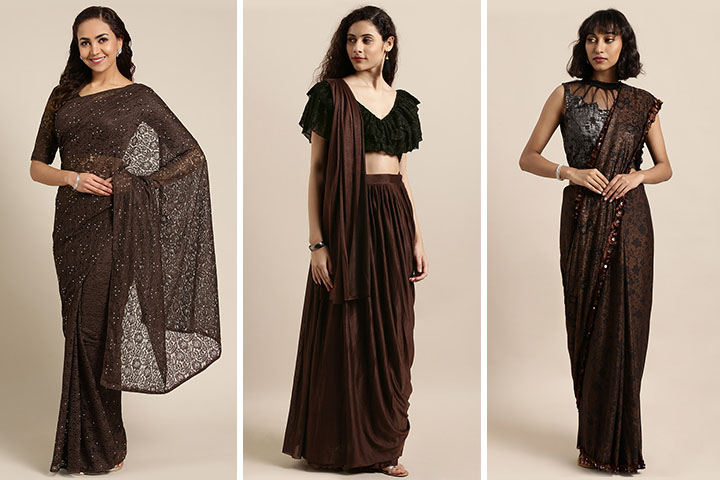 Coffee Brown Saree – 25 Spectacular Coffee Brown Colour Sarees for Women