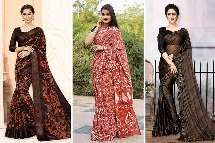 20 Latest Copper Colour Sarees for Women