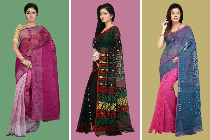 35 Latest Dhakai Jamdani Sarees Collection with Exclusive Designs