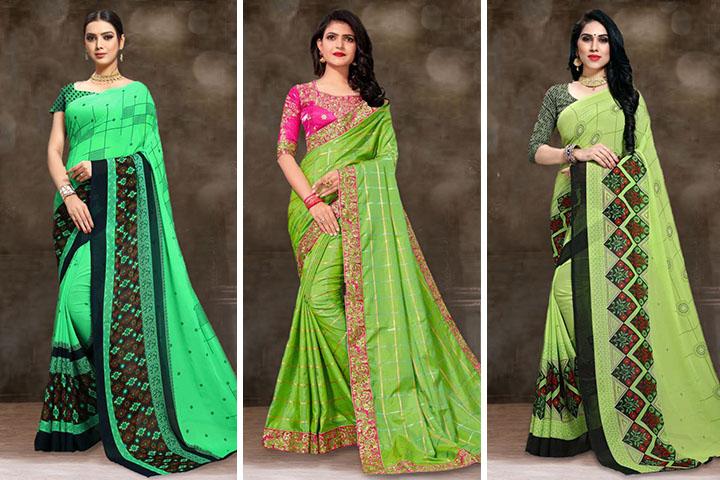 Green Saree – 30 Delightful Green Colour Sarees Collection For Women