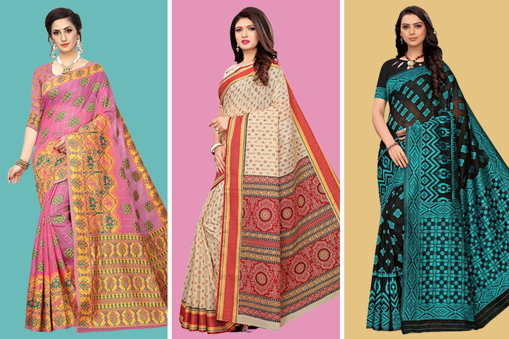 Top 30 Exclusive Collection of Ikkat Cotton Sarees with Images