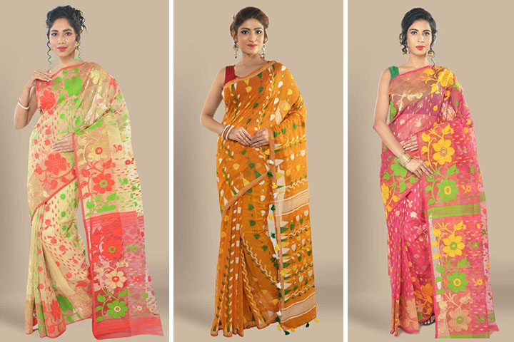 25 Latest Jamdani Cotton Sarees Collection for Women