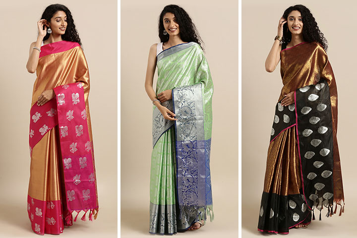 25 Latest Collection of Kora Muslin Sarees for Women