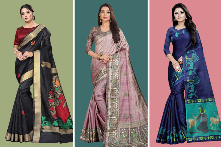 35 Latest Collection of Madhubani Sarees With Images