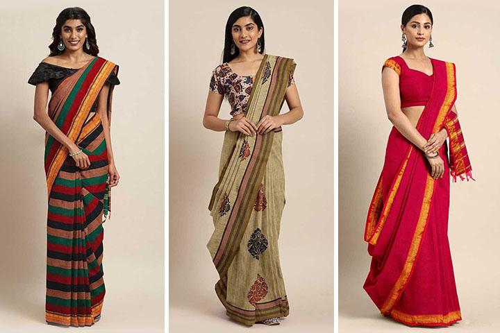 25 Beautiful Mangalagiri Cotton Sarees Collection at Affordable Prices