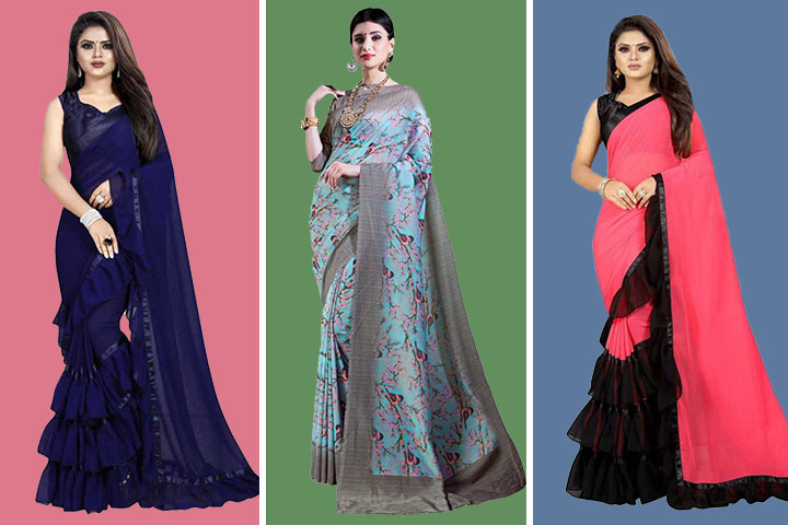 35 Unique Collection of Muslin Sarees That Will Gives A Royal Look