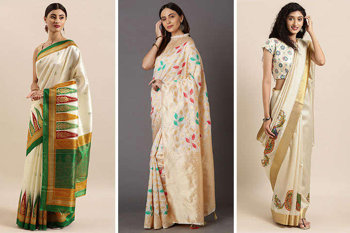 Off White Saree – 25 Variety of Off White Saree Designs for You