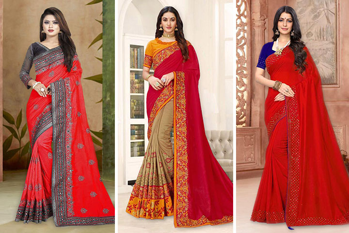 Red Sarees: 30 Latest Red Color Saree Collection