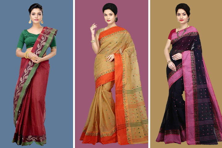 35 Latest Collection of Tangail Sarees for Women