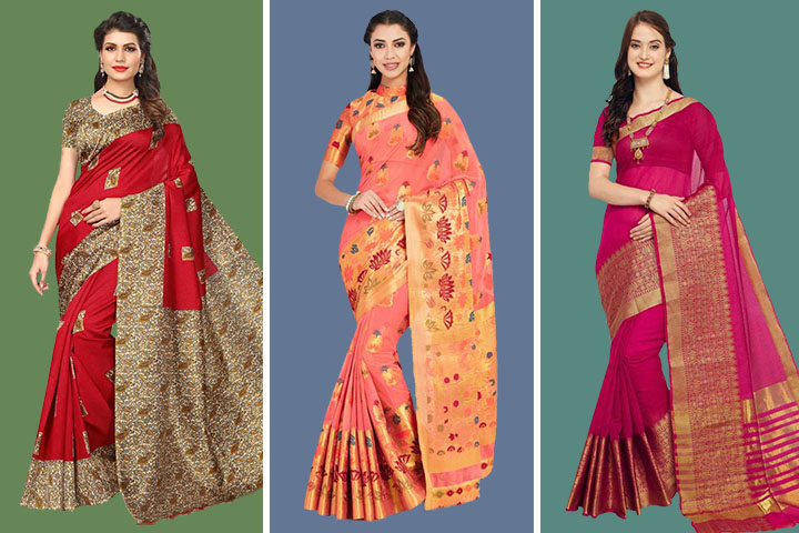 35 Latest Collection of Tant Sarees for Women