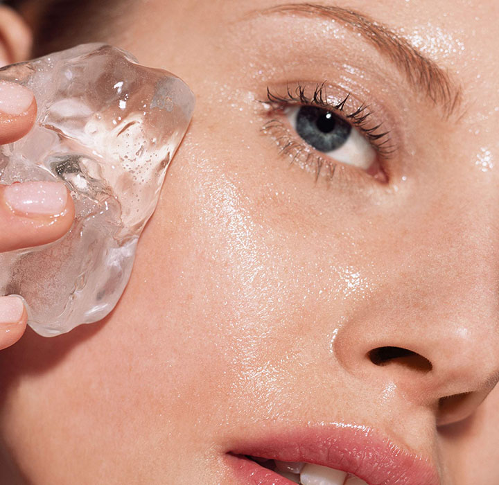 ice for open pores