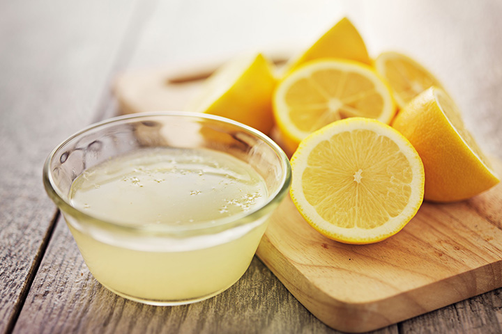lemon juice for hair lightening