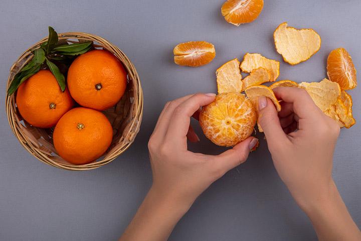 orange peel for warts