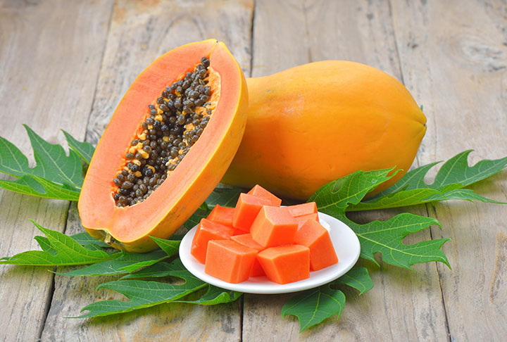 papaya for open pores