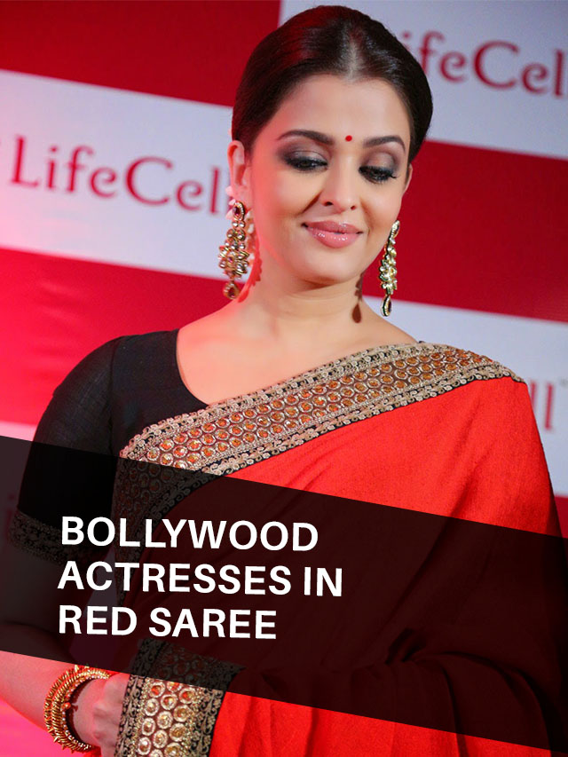 Bollywood Actresses in Red Saree – Who love to Wear Saree