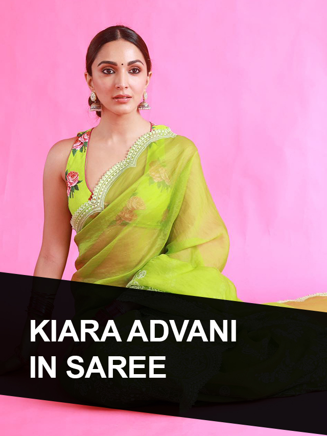 Unseen Looks of Kiara Advani in Saree with Images